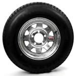 175/80D13 Bias Trailer Tire 13″ Galvanized Spoke Rim