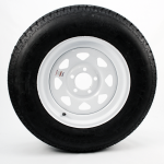 205/75R15 Radial Trailer Tire 15″ White Spoke Rim