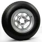 205/75D14 Bias Trailer Tire 14″ Galvanized Spoke Rim