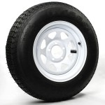 205/75D14 Bias Trailer Tire 14″ White Spoke Rim