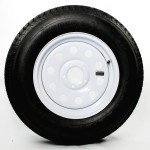205/75D15 Bias Trailer Tire 15″ White Mod Rim