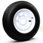 205/75D15 Bias Trailer Tire 15″ White Spoke Rim