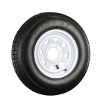 225/75D15 Bias Trailer Tire 15″ White Spoke Rim