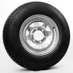 225/75D15 Bias Trailer Tire 15″ Galvanized Spoke Rim