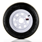 4.80 x 12 Bias Trailer Tire 12″ White Spoke Rim