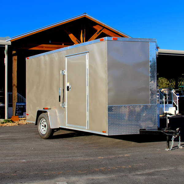 6x12 Single Axle Enclosed Pewter Trailer By Diamond Cargo