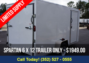 Limited Supply 6×12 Spartan Enclosed Trailer $1,949